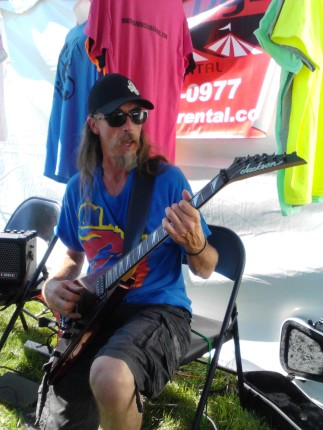 Playing music at the booth - Miami Valley Music Fest 2015