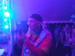 Jimmy C. catching Grover in action - Miami Valley Music Fest 2015